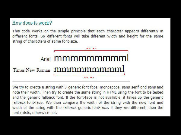javascript-css-font-detect